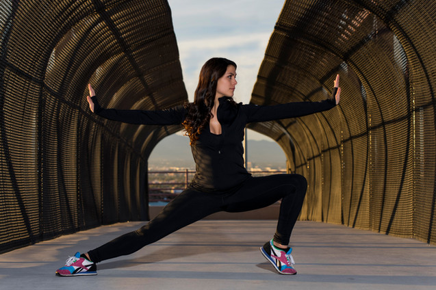 Mekhaela Klimer in Las Vegas for a fitness themed photo shoot.