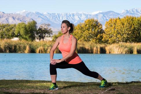 Outdoot fitness photo shoot.
