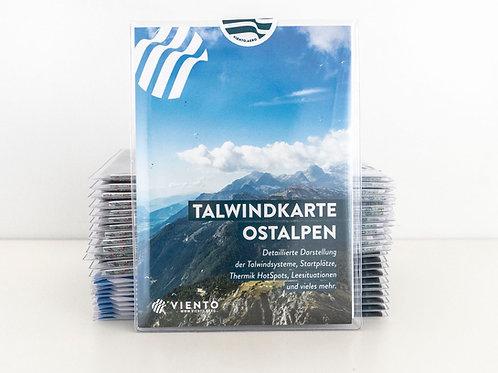 Viento Talwindkarte Ostalpen (Papier)