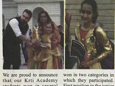 Krti Academy in Newspaper