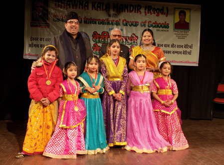 STUDENTS OF KRTI ACADEMY OF ART & CULTURE AWARDED AT MUKTADHARA AUDITORIUM