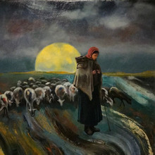 Shepherdess with Her Flock -- Sold