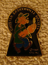 Chester Baskerville Society lapel pin
