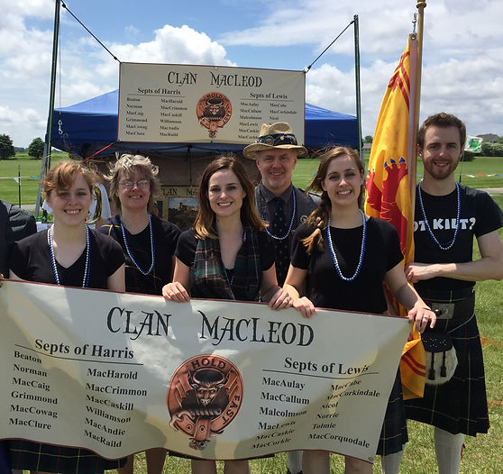 Michael McClure Clan representing Clan MacLeod at the Springfield Highland Games
