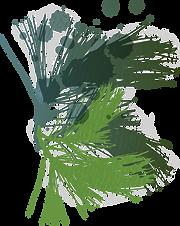 ステンドグラスの葉