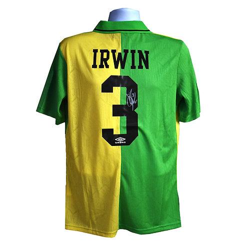 Denis Irwin Signed Manchester United Newton Heath Shirt