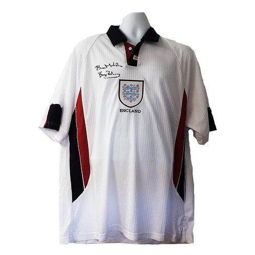 Bryan Robson England Signed Home Shirt 1998
