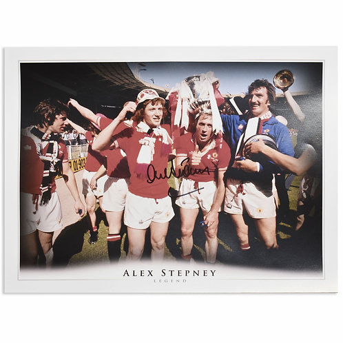 Alex Stepney FA Cup Manchester United Signed Picture