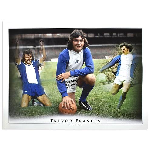 Trevor Francis Signed Birmingham City Large Montage