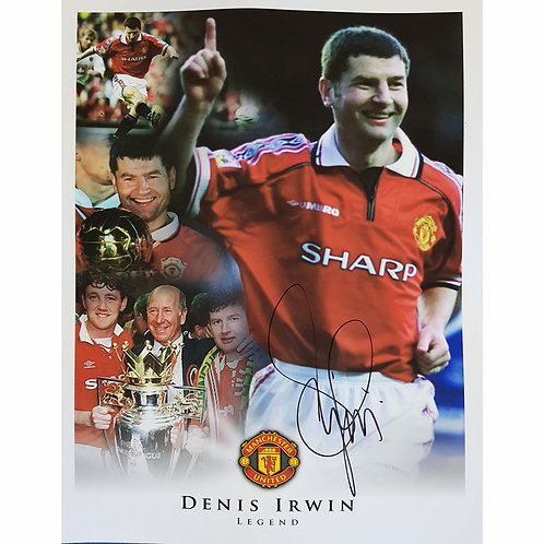 Denis Irwin Manchester United Signed Montage