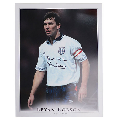 Bryan Robson England Captain Signed Photograph