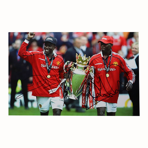 Yorke and Cole Man United Signed Photo