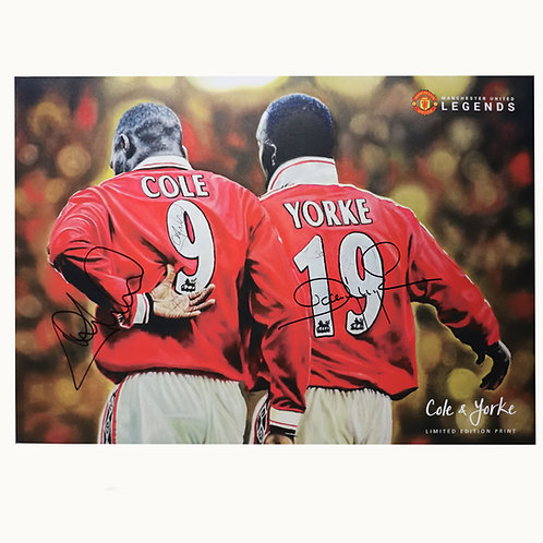 Cole and Yorke Manchester United Signed Colour Picture