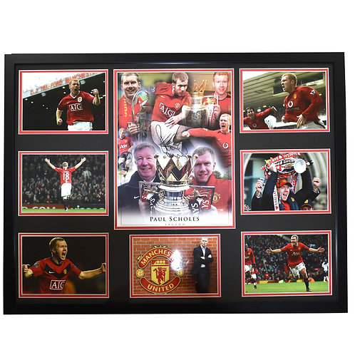 Paul Scholes Manchester United Legend Signed and Framed Montage