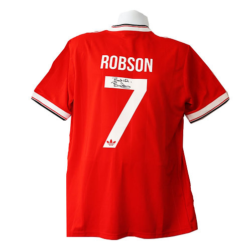 Bryan Robson Man United Number 7 Signed Shirt