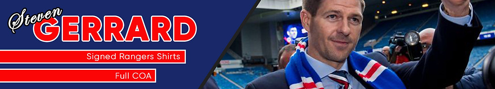 Steven Gerrard Rangers Signed Shirt