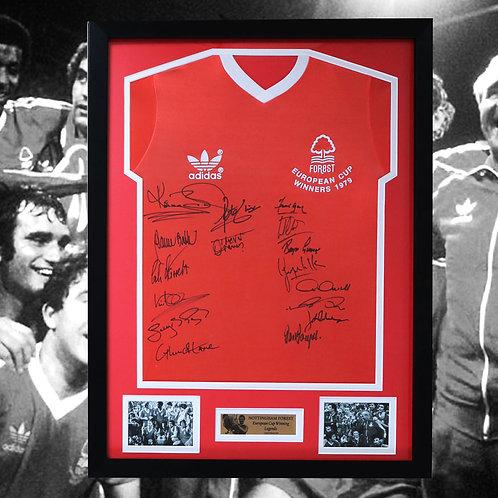 Nottingham Forest European Cup Legends Signed and Framed