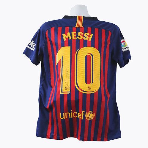 Messi Signed Shirt - Barcelona 2018/2019