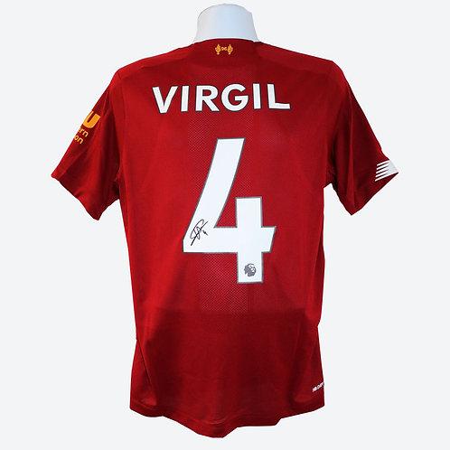 Virgil Van Dijk Signed Liverpool Shirt