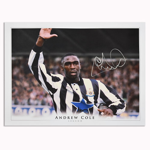 Andy Cole Newcastle United Signed Picture