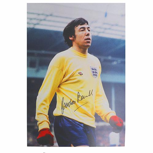 Gordon Banks Signed Colour Photograph