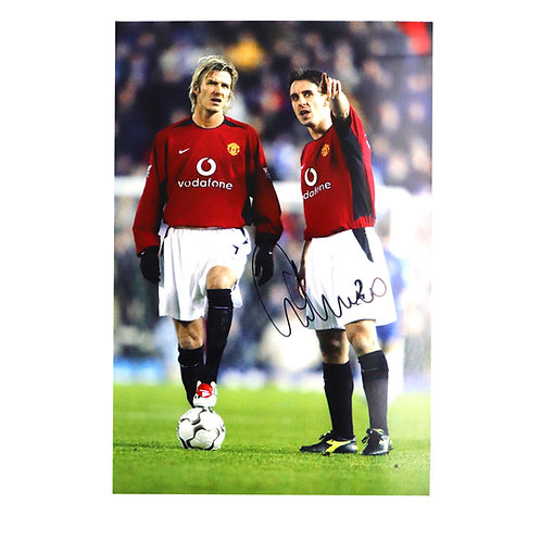 Gary Neville Signed Photograph with Beckham