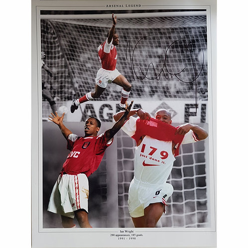 Ian Wright Arsenal Signed Montage