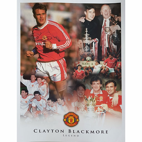 Clayton Blackmore Manchester United Signed Montage