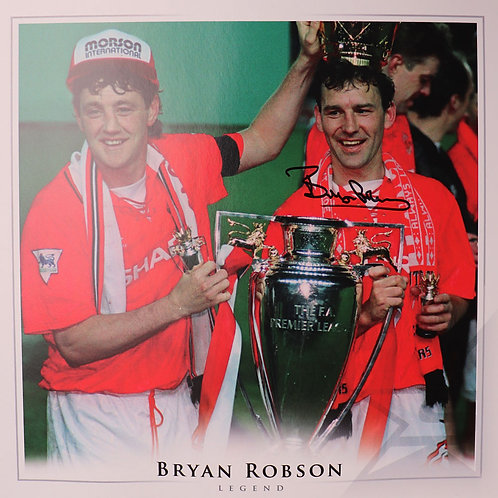 Bryan Robson Manchester United Double Winners 1994 Picture