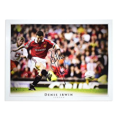 Denis Irwin Man Utd Signed Picture