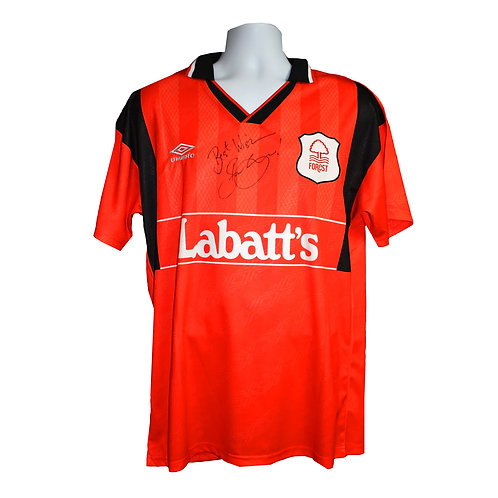 Stan Collymore Nottingham Forest Signed Shirt - Signed Front