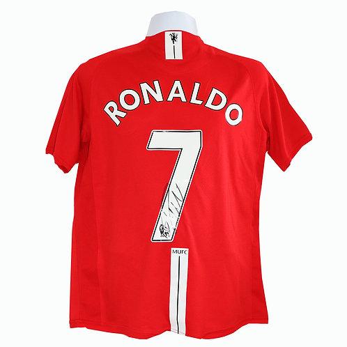 Ronaldo Signed Shirt  Manchester United  2008