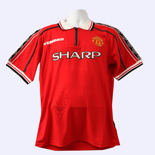 Andy Cole Signed 1999 Manchester United Shirt