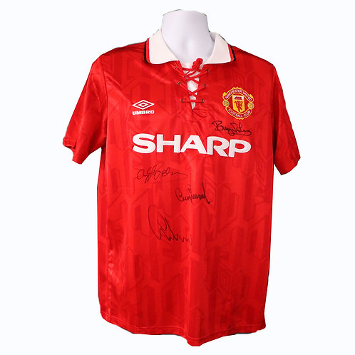 Manchester United Signed 1994 Double Winners Shirt
