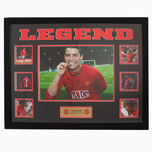 Cristiano Ronaldo Manchester United Champions League Legend Signed and Framed