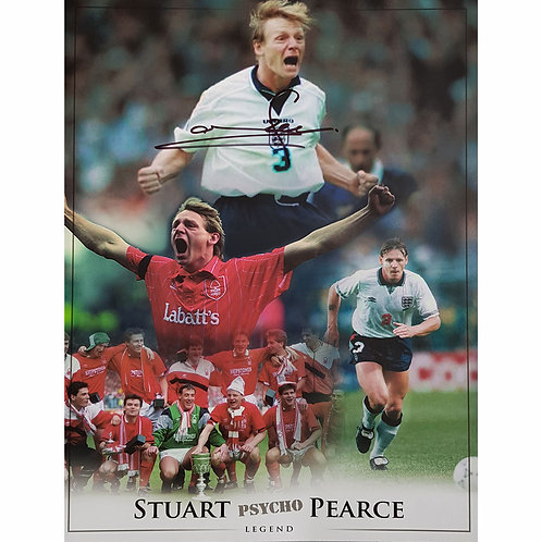 Stuart Pearce Nottingham Forest and England Signed Montage