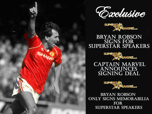 Bryan Robson Exclusive Announcement