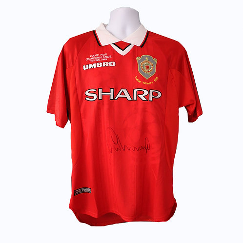 Gary Neville Signed 1999 Champions League Final Shirt