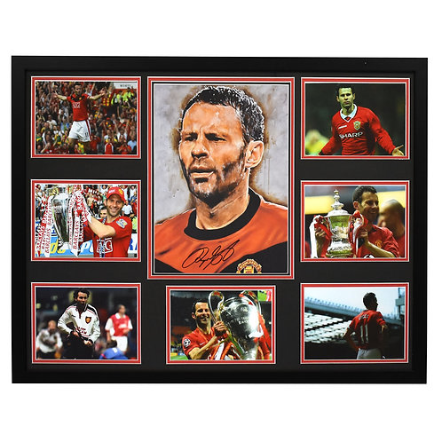 Ryan Giggs Manchester United Signed and Framed Large Montage