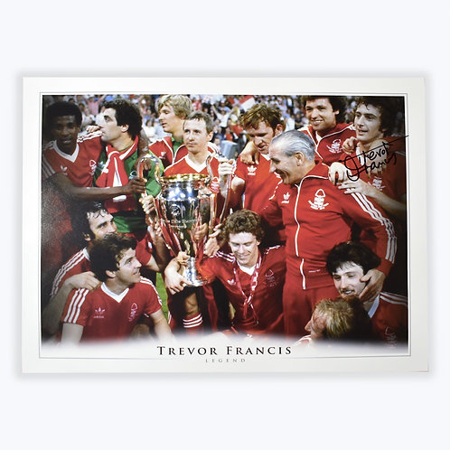 Trevor Francis Nottingham Forest Signed European Cup Picture