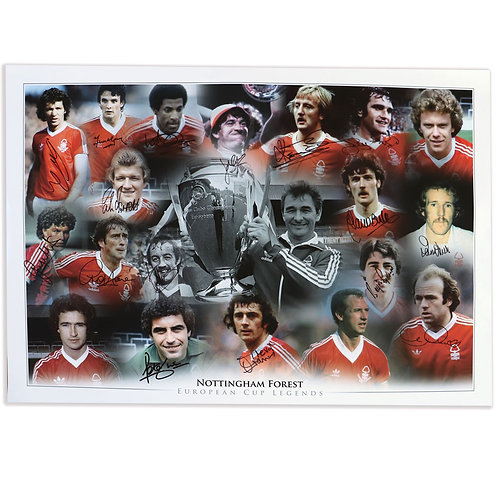 Nottingham Forest European Cup Winners Signed  A1 Poster
