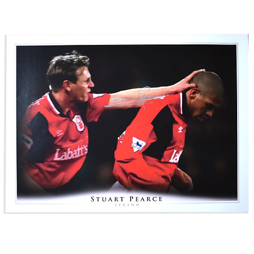 Stuart Pearce Signed Nottingham Forest Picture
