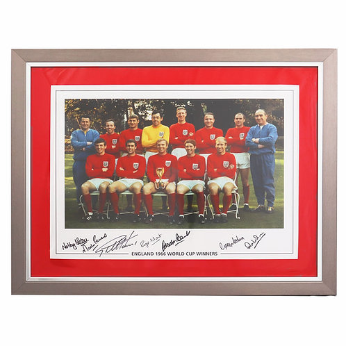 England 1966 Team Photograph - Signed by 7 World Cup Winners