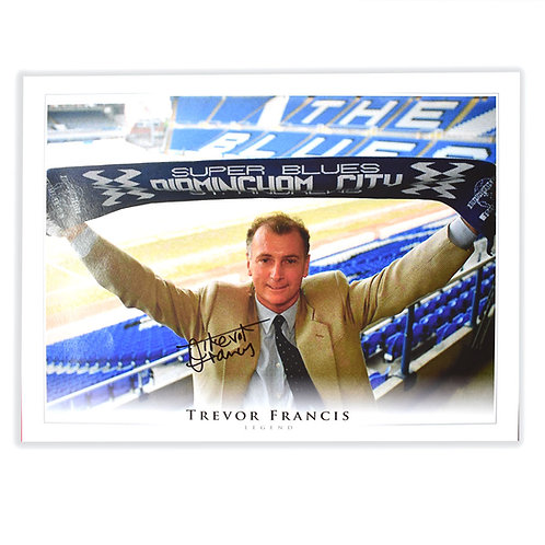 Trevor Francis Manager Birmingham City Signed Picture