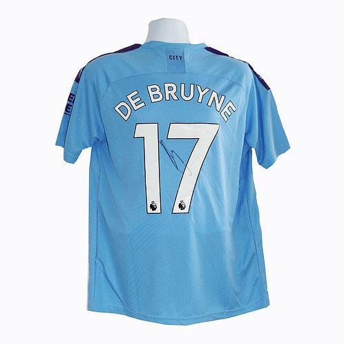 Kevin De Bruyne SIgned Manchester City Shirt