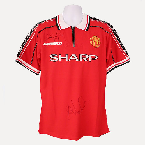 Cole and Yorke Manchester United 1999 Signed Shirt