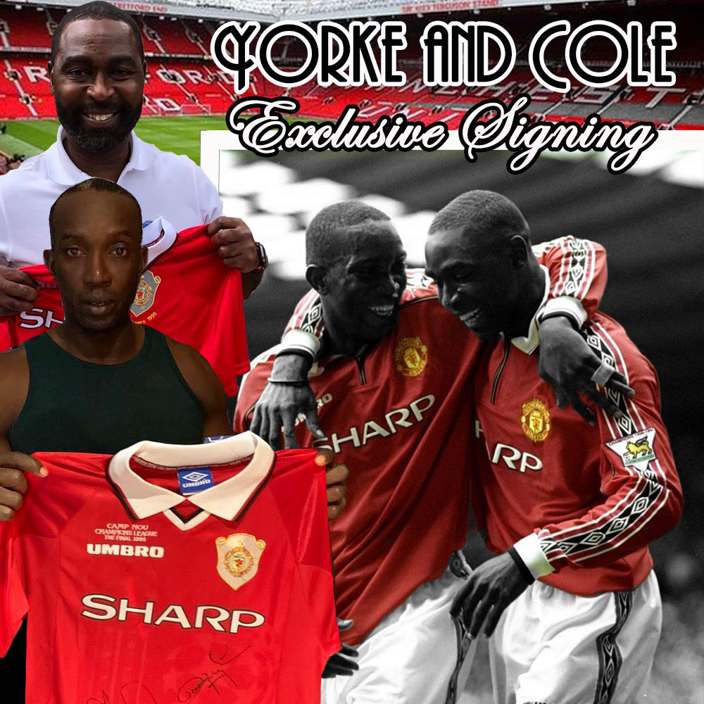 Dwight Yorke and Andy Cole Signed
