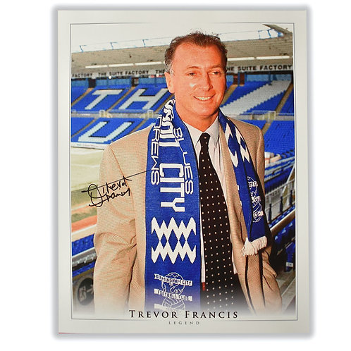 Trevor Francis Birmingham City Manager Signed Picture