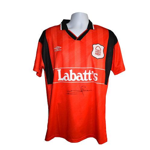 Stuart Pearce Nottingham Forest Signed Shirt - Front Signed