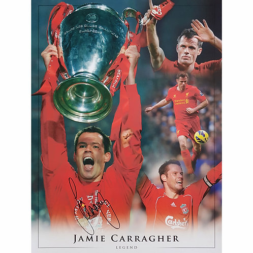 Jamie Carragher Liverpool Signed Montage